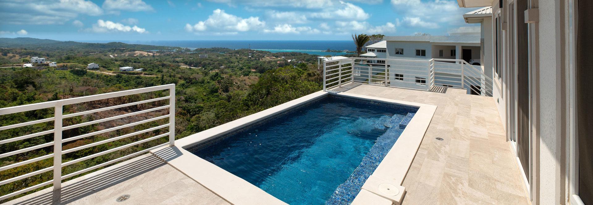 White Hill Villa Coral Views Pool View Roatan